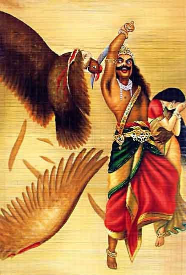 top-10-famous-indian-paintings-Jatayu-Vadham