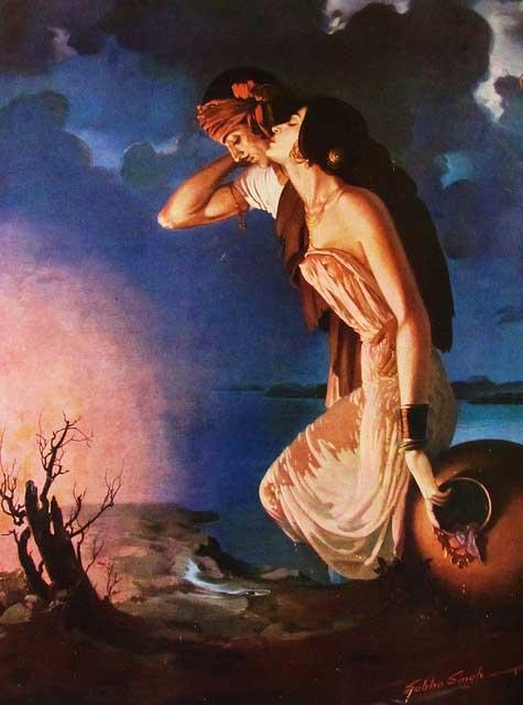 top-10-famous-indian-paintings-Sohni-Mahiwal