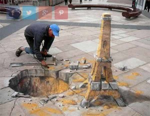 amazing-painting-on-streets-Eiffel Tower Sand-Sculpture