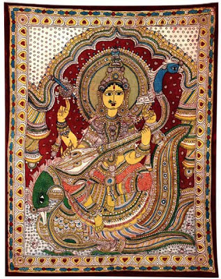 indian-folk-art-tribal-art-paintings-styles-Kalamkari-Painting