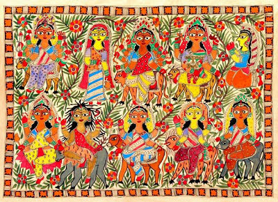 indian-folk-art-tribal-art-paintings-styles-Madhubani-Art