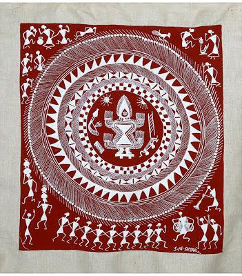indian-folk-art-tribal-art-paintings-styles-Tribal-Folk-Art-Warli