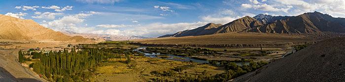 भारत के लेह-लद्दाख प्रांत में सिंधु घाटी